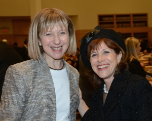 Lady Elaine Sacks and Chanie Grunstein at Bergen County graduate reception