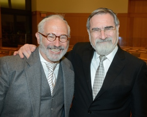 Leonard Grunstein and Rabbi Lord Jonathan Sacks